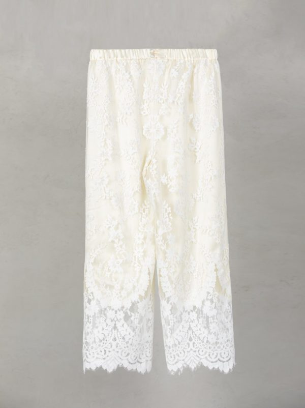 Lace Pants Long Lining