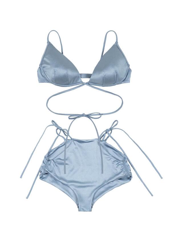 Bikini Top × High Waist Bottom